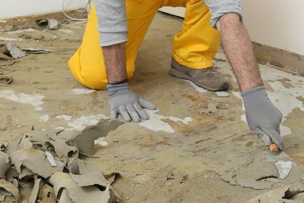 Floor Glue removal
